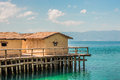 Museum on water - Bay of the bones - Ohrid, Macedonia Royalty Free Stock Photo