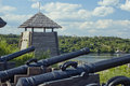 Museum of zaporizhian cossacks panorama the zaporozhia ukraine focus on the tower Royalty Free Stock Photography
