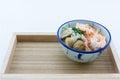 Mush add shrimps mushrooms pepper food thailand thailand res restaurant breakfast white background Royalty Free Stock Image