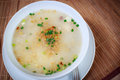 Mush breakfast bowl scallion warm dish food simple hot photography Stock Photography