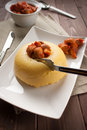 Mush with mushroom - Polenta e funghi Stock Photography