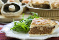Mushroom and Beef Pie Royalty Free Stock Photos