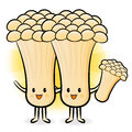 Mushroom couple characters to promote vegetable selling fungus character design series Royalty Free Stock Photography