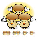 Mushroom couple characters to promote vegetable selling fungus character design series Royalty Free Stock Photo