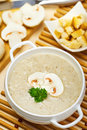 Mushroom cream soup Royalty Free Stock Photo