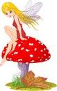 Mushroom Fairy Stock Photography