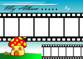 Mushroom Film Strip Royalty Free Stock Photo