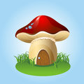Mushroom home vector illustration of Royalty Free Stock Images