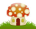 Mushroom house a glossy illustration of a cute shaped Stock Photo