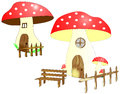 Mushroom houses with courtyard