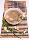The mushroom meatball soup delicious Royalty Free Stock Images