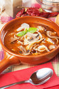 Mushroom and noodle soup Royalty Free Stock Images