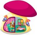 Mushroom playhouse Royalty Free Stock Photography