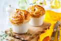 Mushroom pot pie individual with puff pastry crust Stock Photo