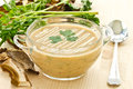Mushroom puree soup Stock Photo