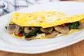 Mushroom spinach Omelet Royalty Free Stock Photo