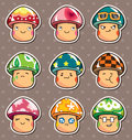 Mushroom stickers Royalty Free Stock Photography