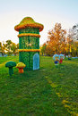 The mushroom in the sunset photo taken china s heilongjiang province daqing city children s park time is october Royalty Free Stock Photo
