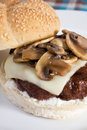 Mushroom Swiss Burger Royalty Free Stock Photo