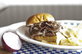 Mushroom Swiss Burger Royalty Free Stock Photo