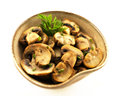 Mushrooms bowl side dishes Stock Image