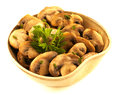 Mushrooms bowl side dishes Royalty Free Stock Images