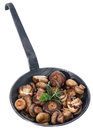 Mushrooms in a Pan (on white)