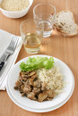 Mushrooms with rice Royalty Free Stock Photo