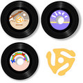 Music 45 RPM oldies rock Records Spindle Royalty Free Stock Photo
