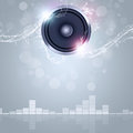 Music abstract background sound speaker with bokeh lights and water waves Stock Images