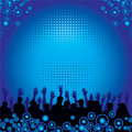 Music audience background Royalty Free Stock Photo