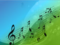 Music background abstract design with notes Stock Photography