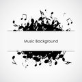Music background abstract with notes illustration Royalty Free Stock Images