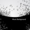 Music background abstract with notes illustration Stock Photo