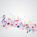 Music background with butterflies Royalty Free Stock Photography