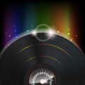Music Background with a Glow vinyl plate Stock Photo