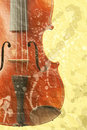 Music background with old fiddle