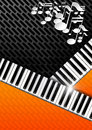 Music Background with Piano Keys Royalty Free Stock Photo