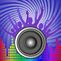 Music background with speaker vector illustration Stock Photos