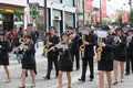 Music band on pedestrian street Royalty Free Stock Photo