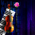 Vector Music banner Royalty Free Stock Photo