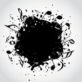 Music  black blot Stock Photo