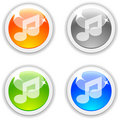 Music buttons. Royalty Free Stock Image