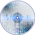 Music CD with an abstract background. Stock Photography