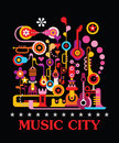 Music City Royalty Free Stock Photo