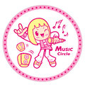 Music club mascot education and life character design series boy is watching telescope Stock Images