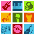 Music color icons Stock Photo