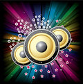 Music colorful disco illustration Royalty Free Stock Photos