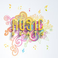 Music concept with musical notes.
