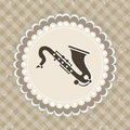 Music concept with Saxophone.
